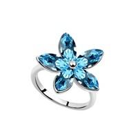 Betico Fashion Mavi Yıldız Çiçeği Yüzük