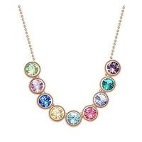 Betico Fashion Renkli Renkli Dizi Kristal Kolye