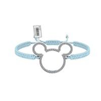 Diamood Jewelry Beyaz Altın Kaplama Gümüş Makrome Örgü Miki Bileklik