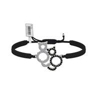 Diamood Jewelry Beyaz Altın Kaplama Gümüş Makrome Örgü Kedi Bileklik