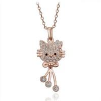 Modalina Altın Kaplama Hello Kitty Kolyesi