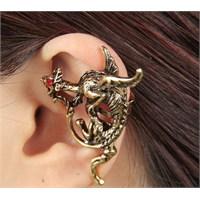 Modalina Ejderha Tasarımlı Ear Cuff Küpe