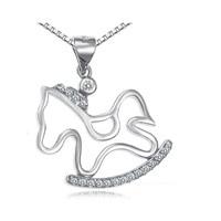 Modalina At Figürlü Gümüş Kolye