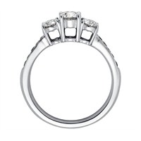 Chavin Üç Taş Gümüş Yüzük 9ba671