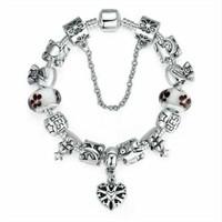 Angemiel Beyaz Çanta Kalp Yıldız Charm Bileklik