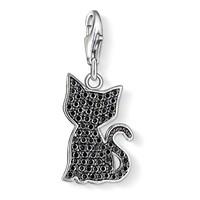 Modakedi Kristal Taşlı Kedi Klipsli Kadın Kolye Ucu