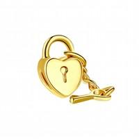 Modakedi Altın Kalp Anahtar Charm Kendi Tarzını Yarat