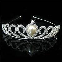 Modakedi İnci Prenses Model Kristal Taşlı Gelin Kına Tacı
