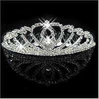 Modakedi Prenses Model Kristal Modern Gelin Kına Tacı
