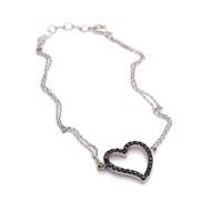 İndigo Takı Kalpli Gümüş Bileklik