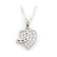 AltınSepeti Beyaz Altın Kalp Kolye AS102KL