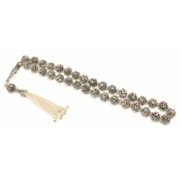 Nusret Takı 925 Ayar Gümüş Küre Kesim Güverseli Tesbih S Modeli İmame