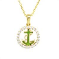 AltınSepeti Gemi Çapası Altın Halka Kolye AS453KL