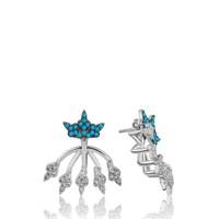 Olivin Accessories Gümüş Sihirli Taç Küpe 610047