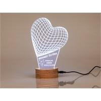 7/24 Hediye Babaya Hediye Kalp Şeklinde 3D Led Lamba