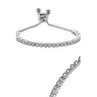 Olivin Accesories Gümüş Ayarlanabilir Tırnaklı Suyolu Bileklik 431739