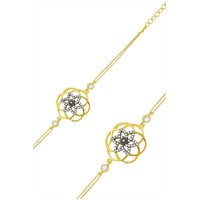Olivin Accesories Gümüş Yıldız Yaşam Çiçeği Bileklik 431831