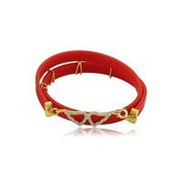 Olivin Accesories Kırmızı Kauçuk Gümüş Melek Kanadı Bileklik 431988