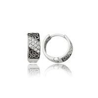 Olivin Accesories Gümüş Desenli Halka Küpe 432101