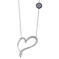 Olivin Accesories Zirkon Taşlı Kalbim Gümüş Kolye 432312