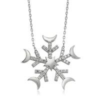 Olivin Accesories Kar Tanesi Gümüş Kolye 432604