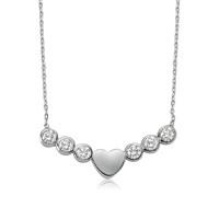 Bayan Lili Tektaş Kalp Gümüş Kolye