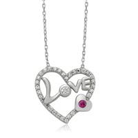 Olivin Accesories Love Kalp Gümüş Kolye 432611