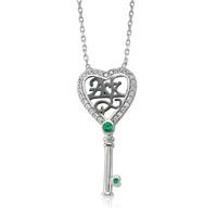 Olivin Accesories Aşk Yazılı Anahtar Gümüş Kolye 432622