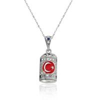 Olivin Accesories Gümüş Ay Yıldız Cevşen Kolye 432643