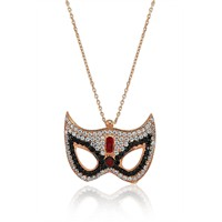 Olivin Accesories Gümüş Maske Kolye 432661