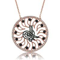 Olivin Accesories Gümüş Rose Tuğra Kolye 432780