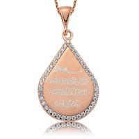 Olivin Accesories Gümüş Damla Nazar Duası Kolye 432811