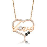 Olivin Accesories Gümüş Kalp Love Kolye 432839