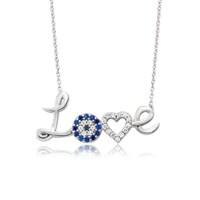 Olivin Accesories Gümüş Nazarlı Kalpli Love Kolye 432854