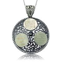 Olivin Accesories Ayetel Kürsi Nazar Duası Ve Felak Suresi Yazılı Gümüş Kolye 432866