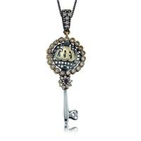 Olivin Accesories Gümüş Allah Yazılı Anahtar Kolye 432880