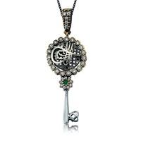 Olivin Accesories Gümüş Tuğra Motifli Anahtar Kolye 432881