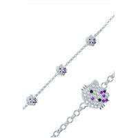 Olivin Accesories Gümüş Hello Kitty Çocuk Bileklik 433178