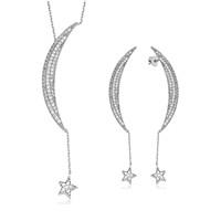Olivin Accesories Gümüş Ay Yıldız Set 610061