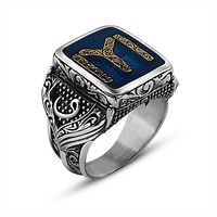 Tesbihane 925 Ayar Gümüş Kayı Tasarım Maruf Yüzük