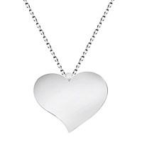 Tesbihane 925 Ayar Gümüş Kalp Tasarım Kolye
