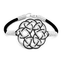 Tesbihane 1000 Ayar Gümüş Siyah Kazaz El Örmesi Bileklik