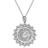 Tesbihane 925 Ayar Gümüş Zirkon Taşlı Estetik Kolye