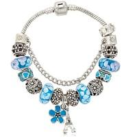 Angemiel Mavi Paris Figürlü Charmlı Bileklik