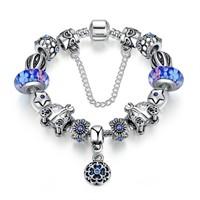 Angemiel Mavi Balkabağı Yıldız Charm Kadın Bileklik
