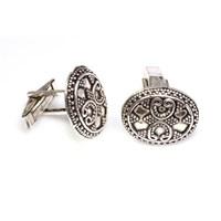 Nusrettaki 925 Ayar Gümüş Güverseli Elişi Kol Düğmesi