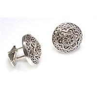 Nusrettaki 925 Ayar Gümüş Burgu Tel Ve Güverseli Kol Düğmesi