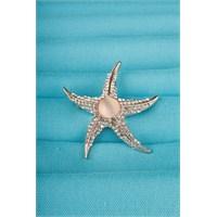 Morvizyon Rose Deniz Yıldızlı Parlak Taş Tasarımlı Bayan Broş