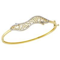 Koçak Gold 14 Ayar Sarı Altın Taşlı Bilezik