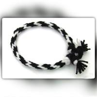 Pafuli El Örgüsü Renkli Hayaller Bileklik Siyah-Beyaz